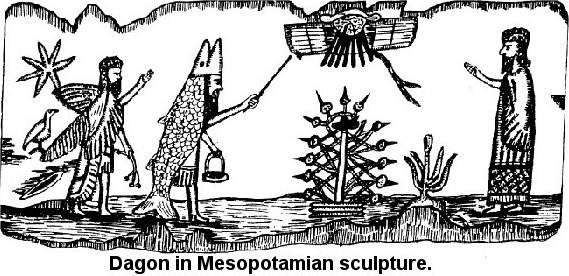 The chief priests wore miters shaped like the head of fish, in honor of Dagon, the fish-god, the lord of life - another form of the Tammuz mystery, as developed among Israel's old enemies, the Philistines. When the chief priest was established in Rome, he took the title Pontifex Maximus, which was imprinted on his miter. When Julius Caesar (who like all young Roman of good family, was an initiate) had become the head of State, he was elected Pontifex Maximus, and this title was held henceforth by all of the Roman emperors down to Constantine the Great, who was, at one and the same time, head of the church and high priest of the heathen! The title was afterward conferred upon the bishops of Rome and is today borne by the pope, who is thus declared to be, not the successor of the fisherman-apostle Peter, but the direct successor of the high priest of the Babylonian mysteries and the servant of the fish-god Dagon, for whom he wears, like his idolatrous predecessor, the fisherman's ring.