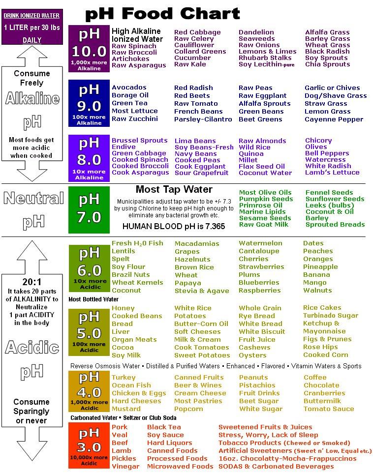 Acidic Foods List Ph Level