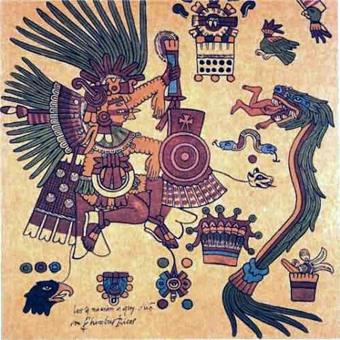 Quetzalcoatl, the winged serpent