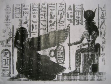 "6,000 year old Ancient Egyptian ""WATER OF LIFE"" Papyrus"