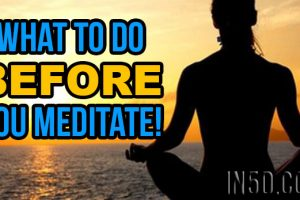 Meditation Techniques – What To Do BEFORE You Meditate!
