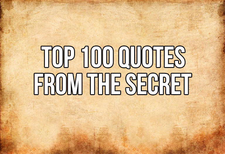 Top 60 Quotes From The Secret In60D In60D Adorable The Secret Quotes