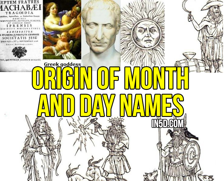 Origin Of Month And Day Names in5d.com