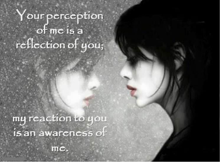 Your perception of me is a reflection of you; my reflection to you is an awareness of me. Facebook: In5d Website: //www.in5d.com/
