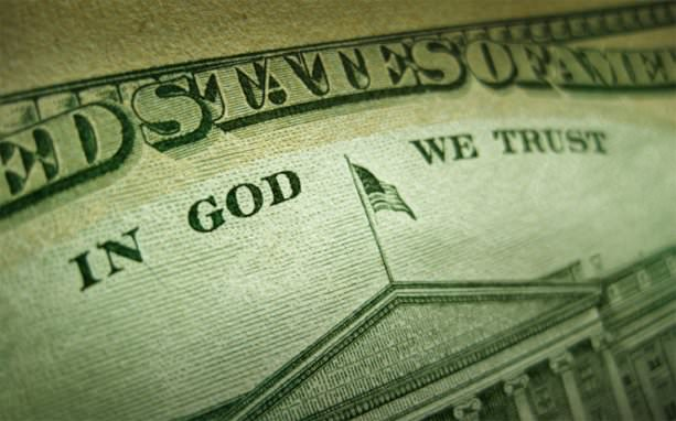 "On the back of a Unites States one dollar bill, you'll also find the words, ""In God We Trust""."