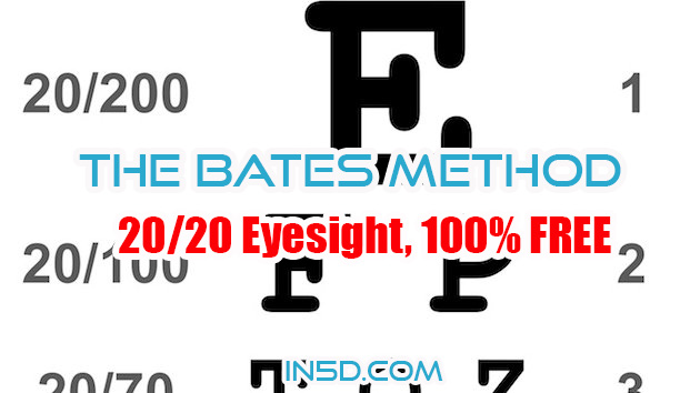 20/20 Eyesight, 100% FREE, HOLISTIC and NATURAL: The Bates Method
