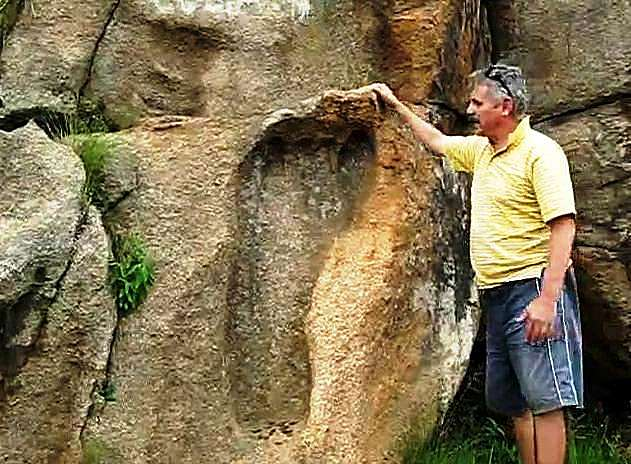 200 Million Year Old Giant Foot Print Found In South Africa in5d in 5d