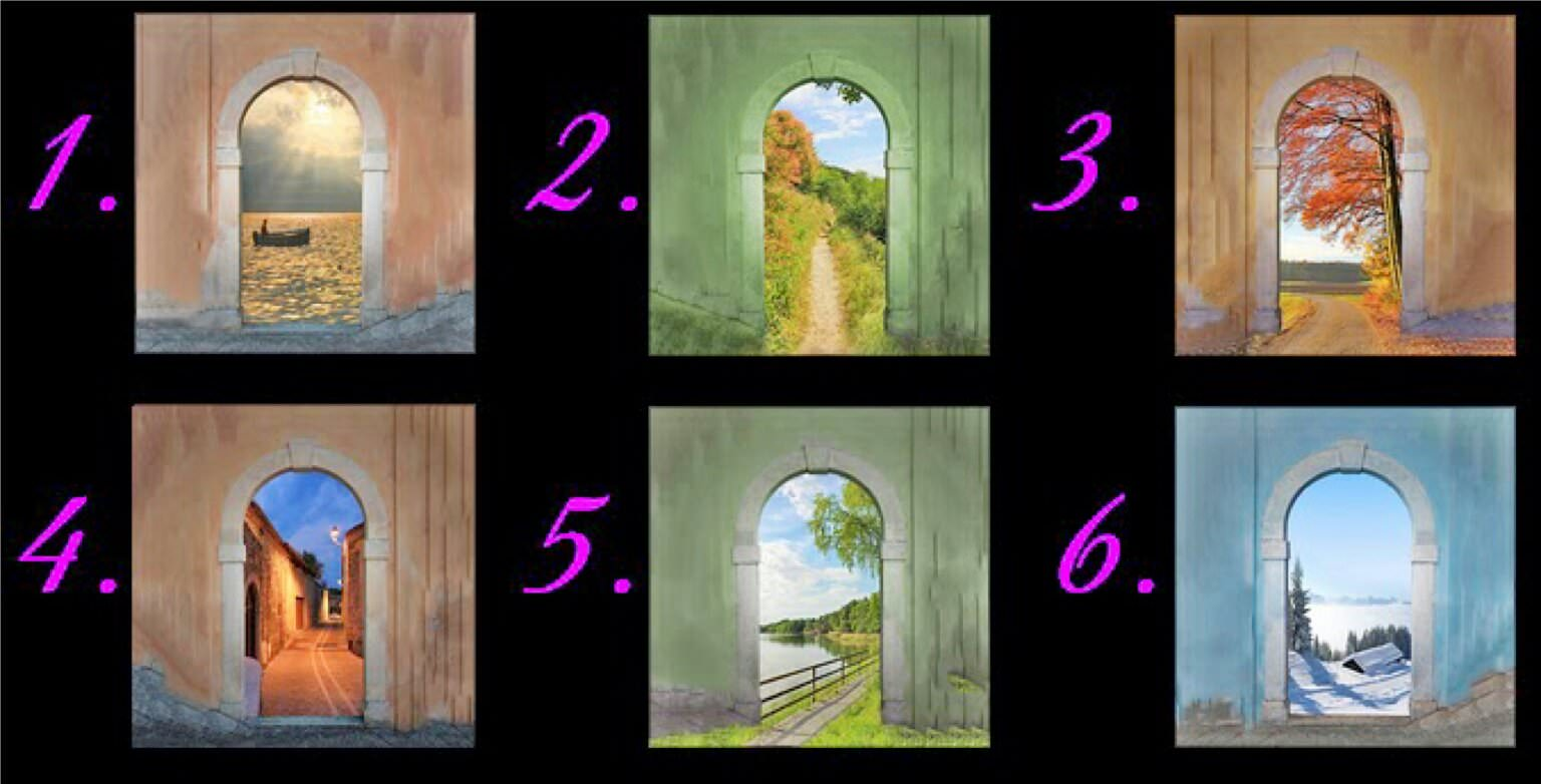 Pick A Door That Stands Out The Most. Then See What It Says About Your Future. in5d in 5d //in5d.com/%20http://in5d.com