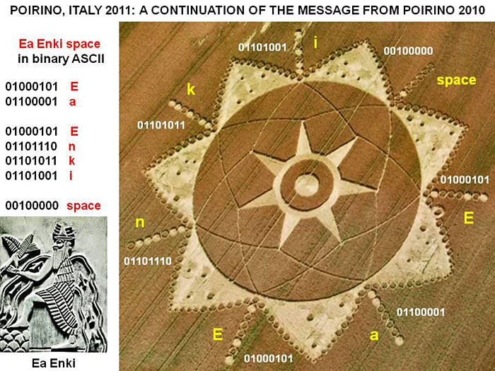 Anunnaki Message? The Crop Circle Ea Enki, Nibiru and Marduk in5d in 5d 2012