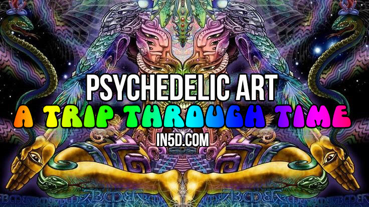 psychedelic art in5d in 5d trip time