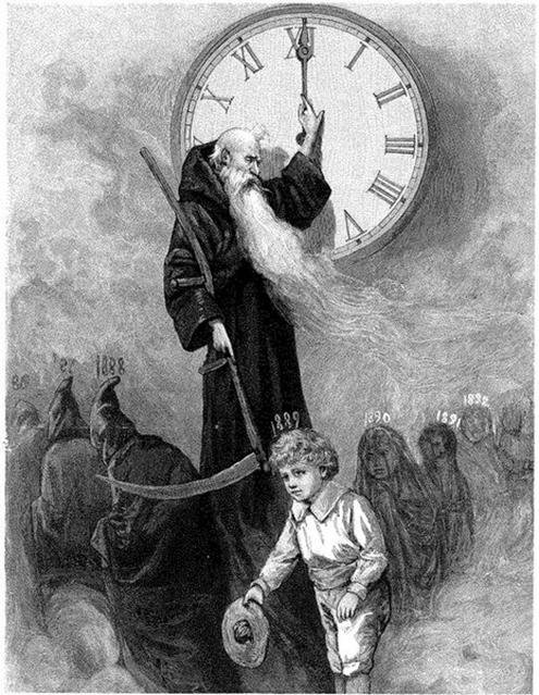 "The key word is time and its correlation to Kronos and Saturn. Saturn is ""Father Time,"" ""The Harvester,"" and in astrotheology, Saturn is Satan. Time is what keeps us locked into this 3rd dimensional reality. For example, as evidenced by those who had near death experiences, time does not exist on the other side of the veil. You can read a lot more about Saturn and Kronos in my article, "" Saturn – Why Are We Worshiping The Cult Of EL?""."