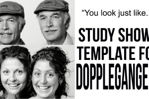 You Look Just Like….. Study Shows Template For Dopplegangers