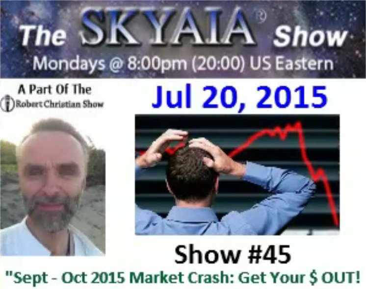 Dr Simon Atkins -  September October 2015 Market Crash Get Out Your Money