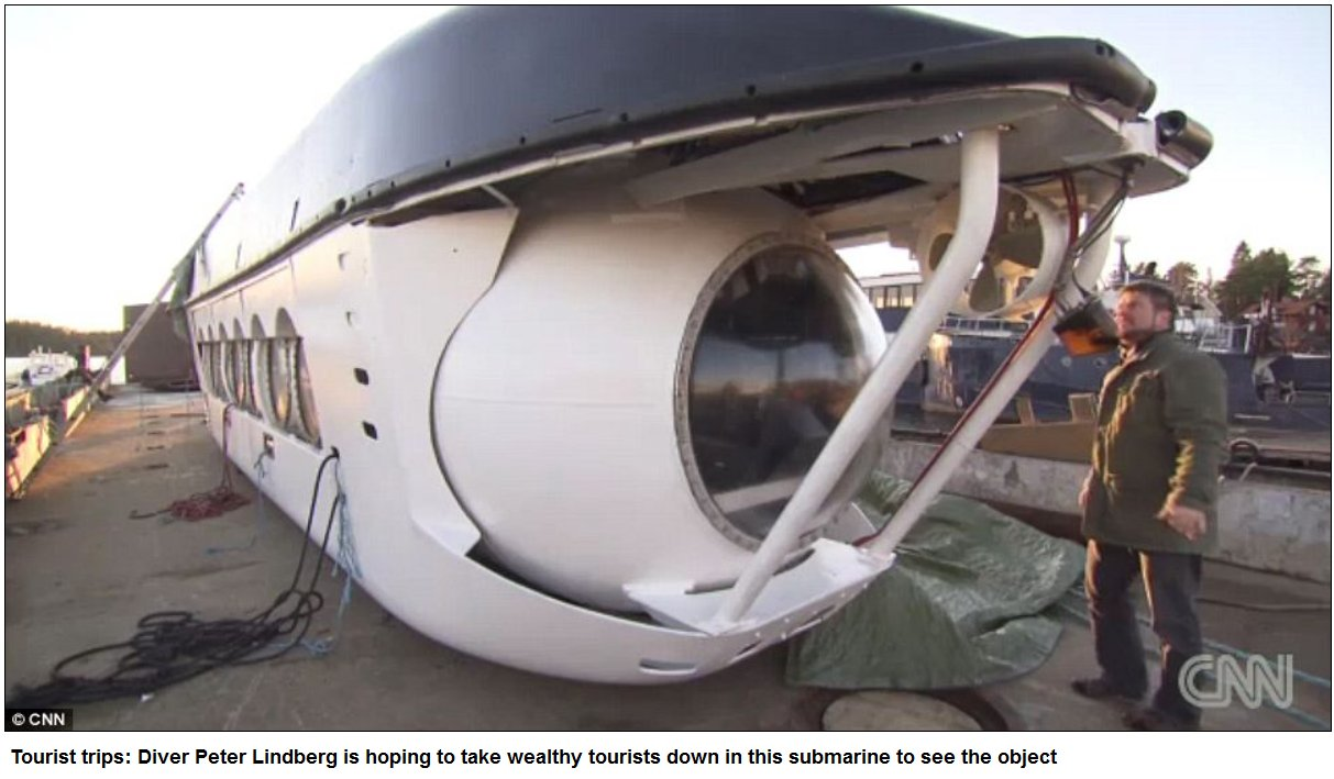 UFO at the bottom of the Baltic Sea cuts off electrical equipment when divers get within 200m