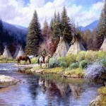 American Indian Teachings: Teepee In The Water
