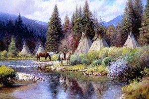 American Indian Teachings: Teepee In The Water