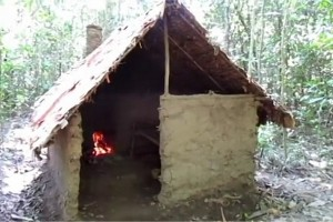 How To Build A Hut And Fireplace In The Wilderness From Scratch