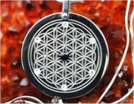 "If you were to ""Google"" images of titanium flower of life pendant, you would get several pages and hundreds of variations. When Gregg picked it out in 2014, I remember it took him a very long time to choose that particular pendant. Here is the image of Gregg's pendant, the exact same one that Simon has."