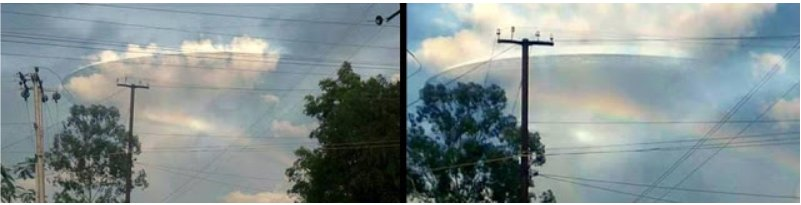 Translucent UFO Mothership Recorded Hovering In India