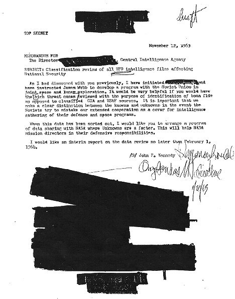 Secret Memo Shows JFK Demanded UFO Files 10 Days Before Assassination