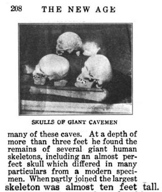 Figure 15: Skulls of giants with cranial deformation.