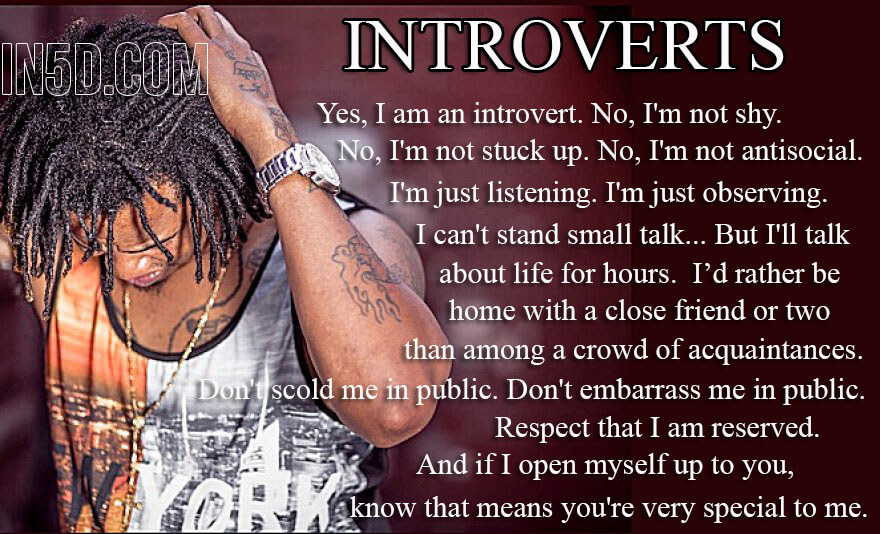 I'm Proud To Be An Introvert