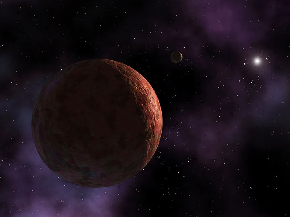Sedna, seen in an artist's conception, is a minor planet in distant reaches of the solar sytem discovered by Mike Brown more than a decade ago. (Reuters)