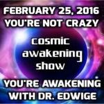 Cosmic Awakening Show You're Not Crazy, You're Awakening! With Dr  Edwidge