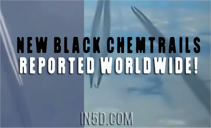 New BLACK Chemtrails Reported Worldwide!