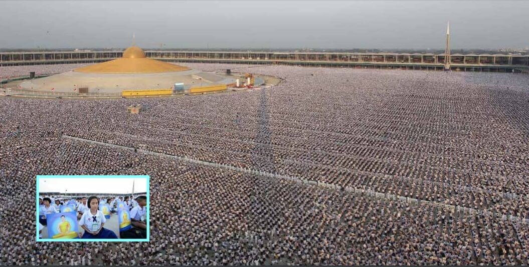 1 MIllion Children Meditating For World Peace In Thailand