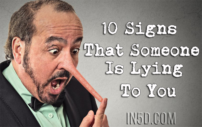 Signs you're dating a liar