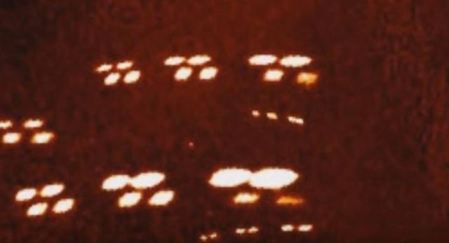 Massive Amount Of UFOs In Formation Passes Satellite Camera