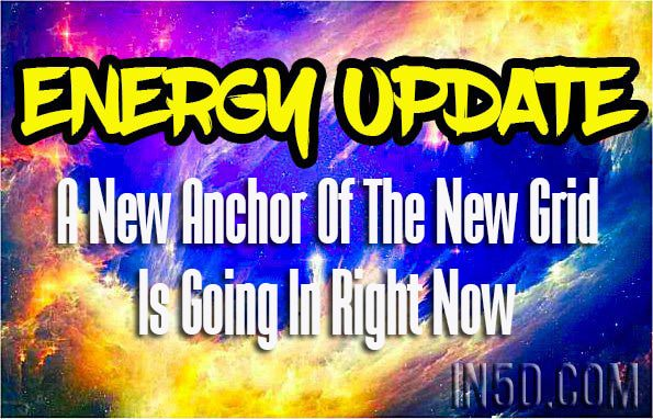 Energy Update - A New Anchor Of The New Grid Is Going In Right Now