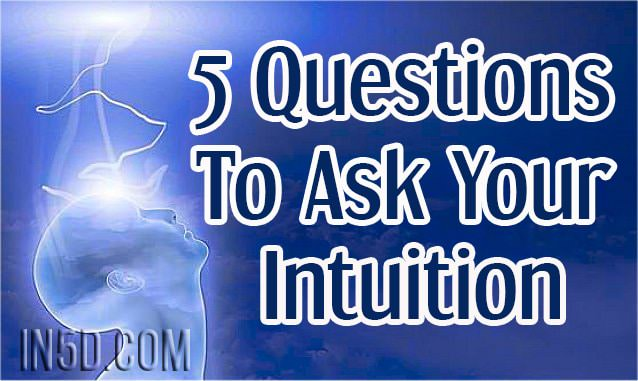 5 Question To Ask Your Intuition