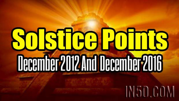 Solstice Points - December 2012 & December 2016