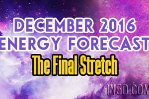 December 2016 Energy Forecast – The Final Stretch