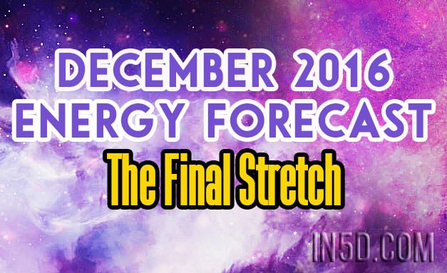 December 2016 Energy Forecast - The Final Stretch