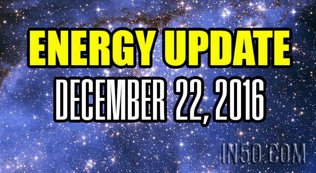 ENERGY UPDATE - December 22, 2016