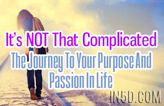 It's NOT That Complicated - The Journey To Your Purpose And Passion In Life