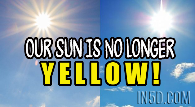 Our Sun Is No Longer Yellow!