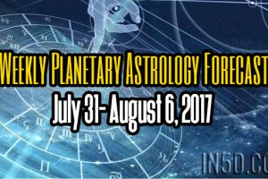 Weekly Planetary Astrology Forecast July 31- August 6, 2017