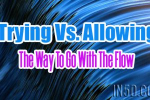 Trying Vs. Allowing – The Way To Go With The Flow