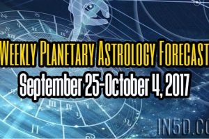Weekly Planetary Astrology Forecast September 25-October 4, 2017