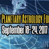 Weekly Planetary Astrology Forecast September 18- 24, 2017