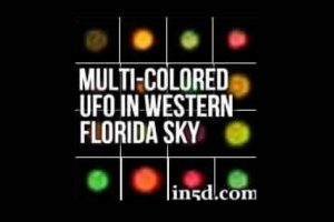 Multi-Colored UFO In Western Florida Skies October 17, 2013