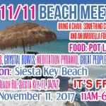 11/11 In5D Beach Meetup Party Saturday, November 11, 2017