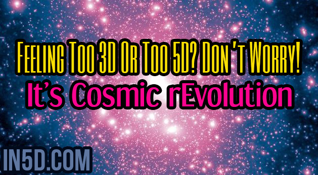 Feeling Too 3D Or Too 5D? Don't Worry! It's Cosmic rEvolution