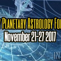 Weekly Planetary Astrology Forecast November 21-27 2017