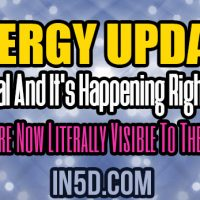 Energy Update: It's Real And It's Happening Right Now!