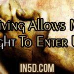 Forgiving Allows More Light To Enter Us!